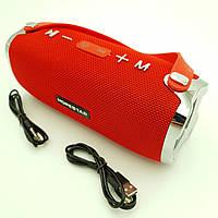 Беспроводная аккумуляторная колонка Bluetooth акустика FM MP3 AUX USB Hopestar H24 красный