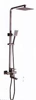 Смеситель с нержавеющей стали с тропическим душем Kraft 4007