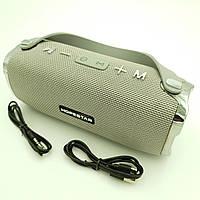 Беспроводная аккумуляторная колонка Bluetooth акустика FM MP3 AUX USB Hopestar H24 серый