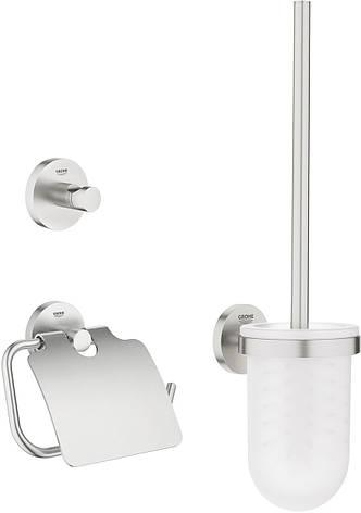 Essentials набор аксессуаров 3в1: ершик, крючок, держатель туалетной бумаги, фото 2