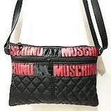 Жіночі стьобані сумки дешево опт до 100грн Chanel (чорний)16*23см, фото 3