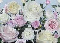 """Фотообои бумажные на стену, 194х268 см """"В царстве роз"""", фотообои готовые, фотообои природа, 16 листов"""