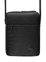 cac7213273d7 Сумка через плече GARD Messenger Portable eco-leather Сroco 1/19 Черный  (MMB000