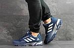 Мужские кроссовки Adidas Fast Marathon 2.0 (сине-белые) , фото 6