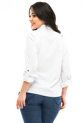 Блузка 5287 белая  в горох, фото 2
