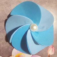 Резинка для волос,синяя.