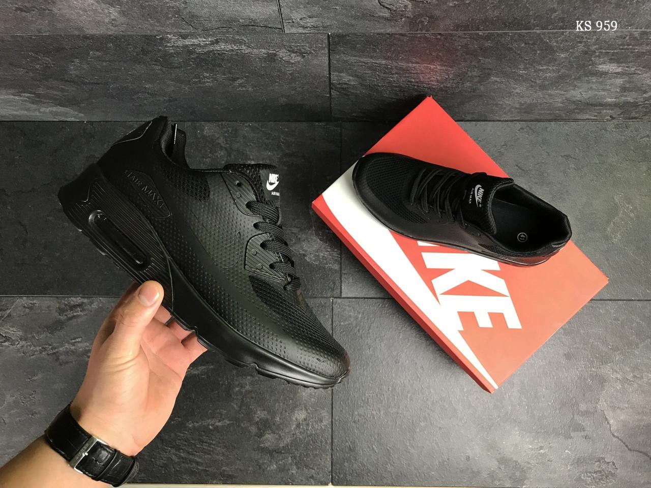Мужские кроссовки Nike Air Max Hyperfuse (черные)
