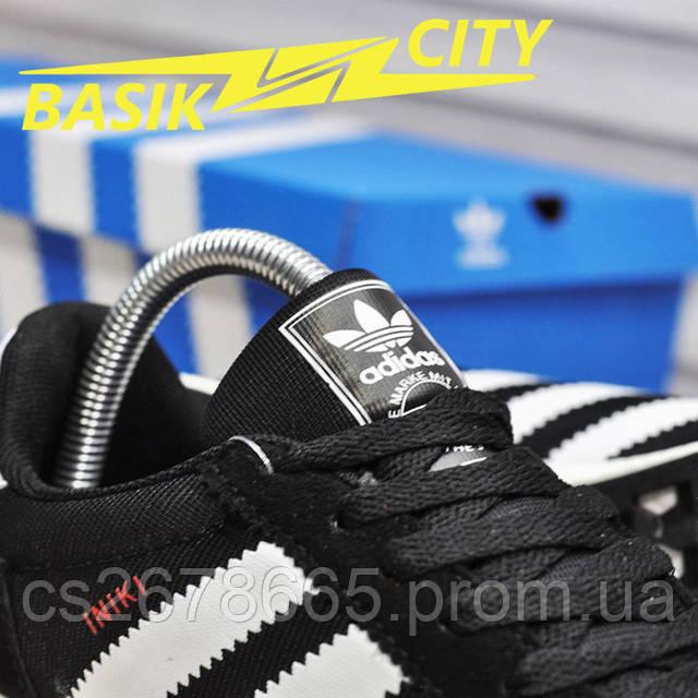 Мужские кроссовки Adidas Iniki Black White Red картинка описания