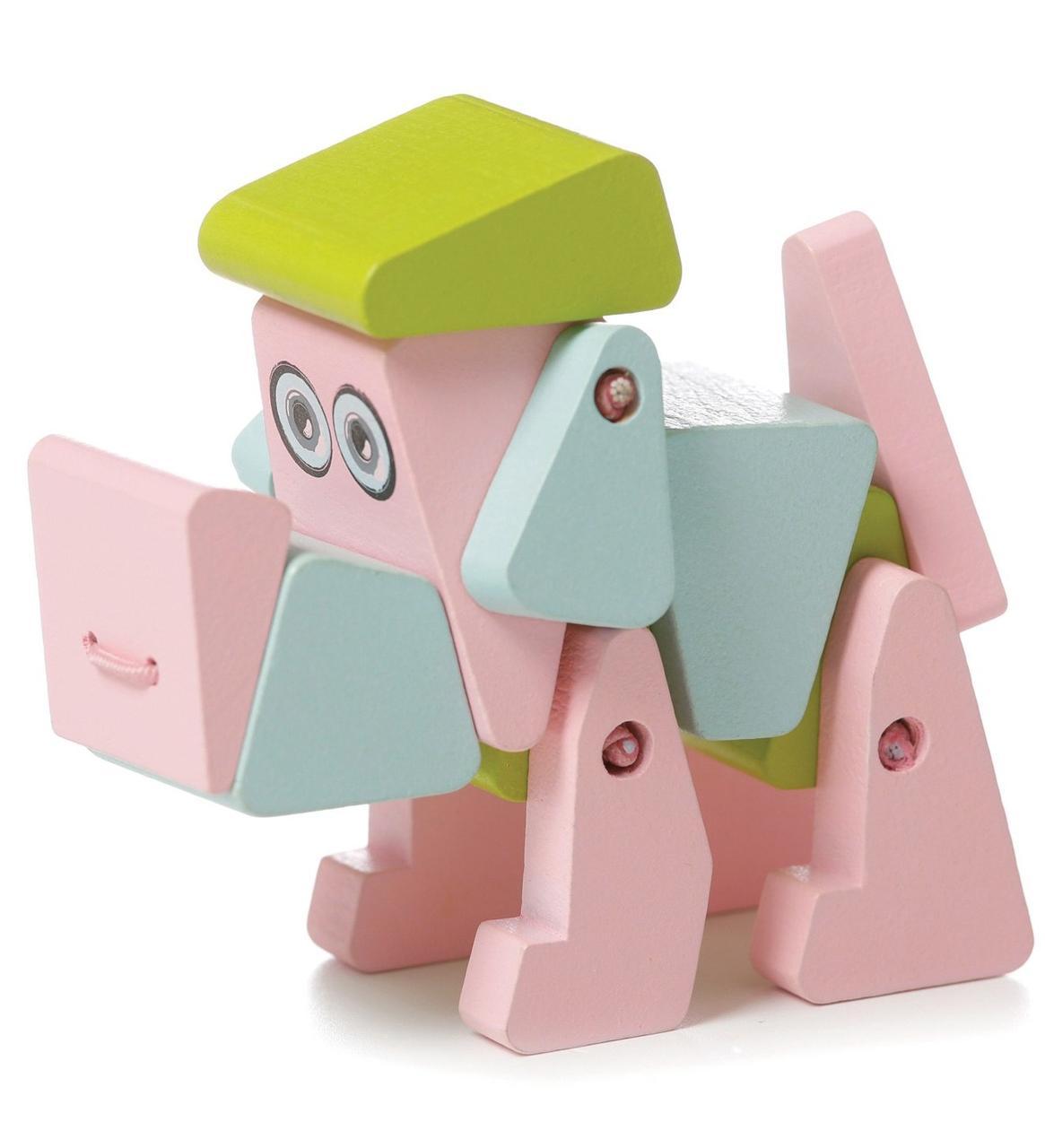 Собака Акробат LA-1. Дерев'яна розвіваюча іграшка Cubika