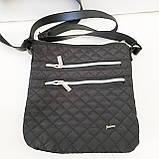 Стеганные женские сумки на плечо (черный+золото)23*24см, фото 2