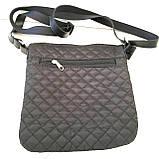 Стеганные женские сумки на плечо (черный+золото)23*24см, фото 3