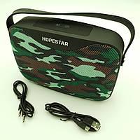 Беспроводная аккумуляторная колонка Bluetooth акустика FM MP3 AUX USB Hopestar H35 камуфляжная