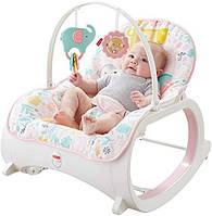 Крісло качалка вібро шезлонг Фішер Прайс Infant-to-Toddler Rocker, Pink Fisher-Price
