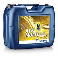 Масло трансмиссионное синтетическое для автоматических КПП NESTE ATF MULTI (20л)