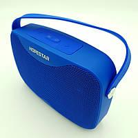 Беспроводная аккумуляторная колонка Bluetooth акустика FM MP3 AUX USB Hopestar H35 синяя