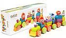 Поїзд Скарби гномів LP-4. Дерев'яна розвіваюча іграшка  Cubika, фото 3