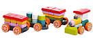 Поїзд LP-1. Дерев'яна розвіваюча іграшка  Cubika, фото 2