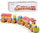 Поїзд LP-1. Дерев'яна розвіваюча іграшка  Cubika, фото 3