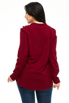 Блузка 5292 бордо, фото 2