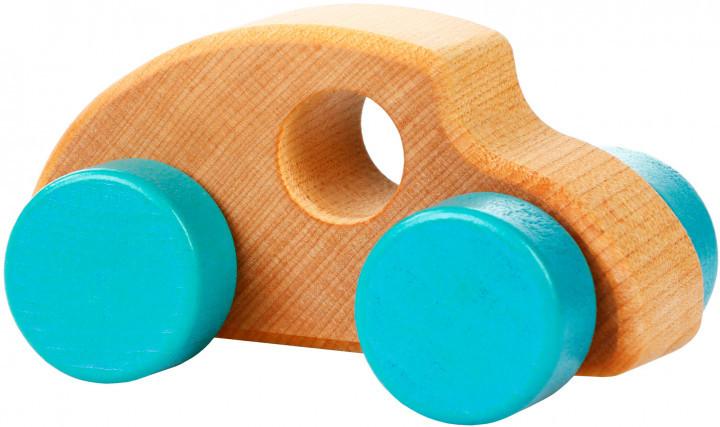 Міні-машинка 4. Дерев'яна розвіваюча іграшка Cubika