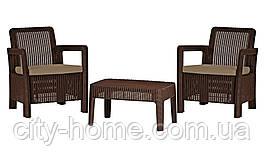 Комплект садових меблів Tarifa Balcony, коричневий