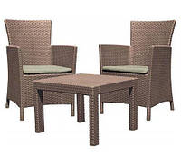 Комплект плетеной мебели Rosario Balcony, капучино