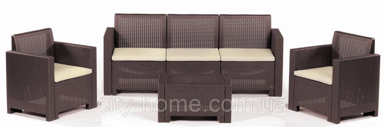 Комплект мебели из искусственного ротанга  Alabama 3 коричневый