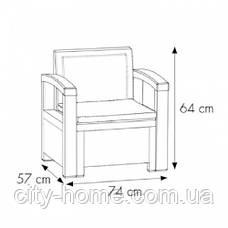 Комплект мебели из искусственного ротанга  Alabama 3 коричневый, фото 3
