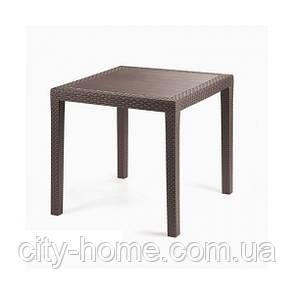 Комплект пластиковой мебели King Ischia 4 коричневый, фото 2