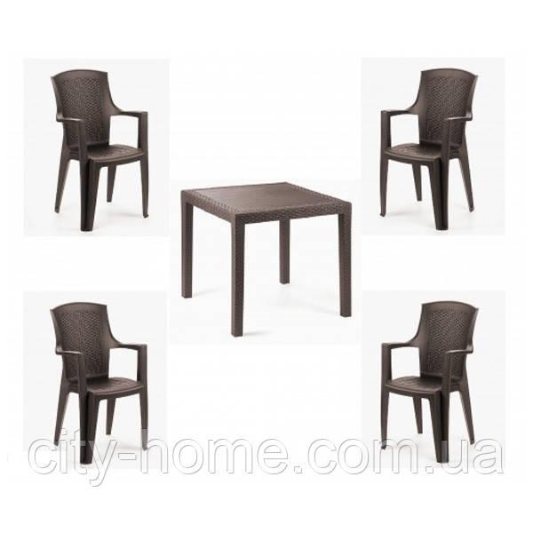 Комплект пластиковой мебели King Eden 4