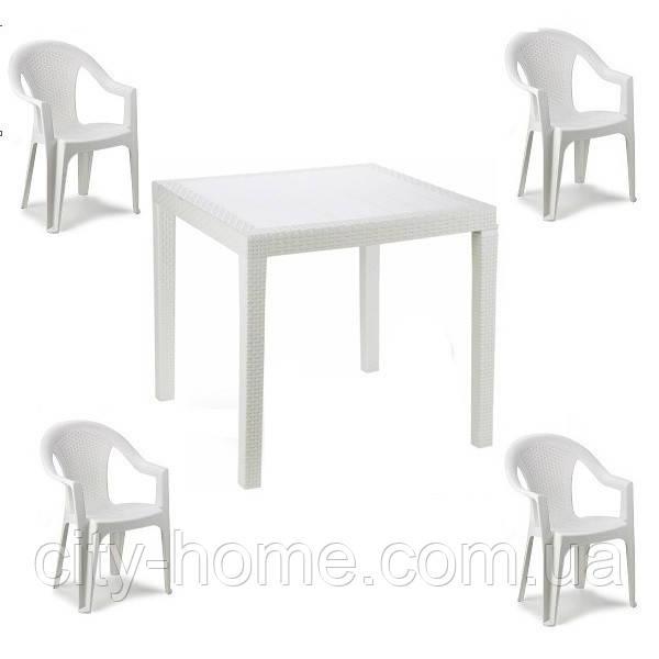 Комплект пластиковой мебели King Ischia 4 белый