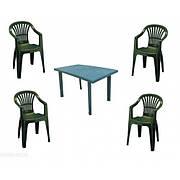 Комплект пластикових меблів Velo 4 зелений
