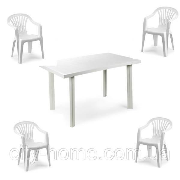 Комплект пластиковой мебели Velo 4 белый
