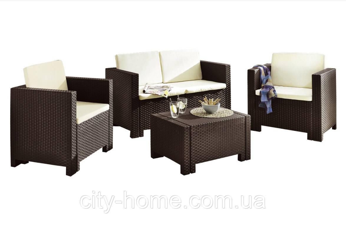 Комплект мебели из искусственного ротанга Set Colorado 2 коричневый
