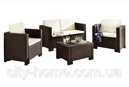 Комплект мебели из искусственного ротанга Set Colorado 2 коричневый, фото 2