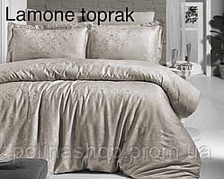 """Комплект постельного белья ALTINBASAK Сатин Deluxe """"Lamone toprak"""" Полуторный"""