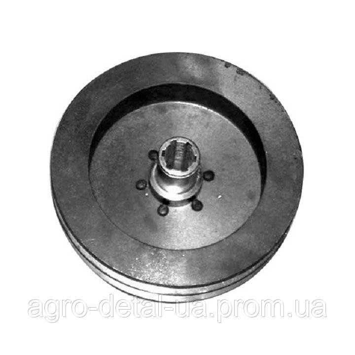 Шкив 238АК-4611210 привода гидравлического насоса в сборе двигателя ЯМЗ 238АК комбайна ДОН 1500