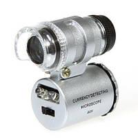 Микроскоп 60X, лупа с подсветкой