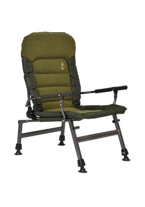 Кресло карповое M-Elektrostatyk FK6 усиленное с круглыми подлокотниками