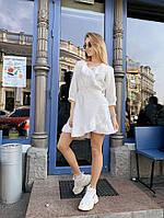 Женское шифоновое платье - белое