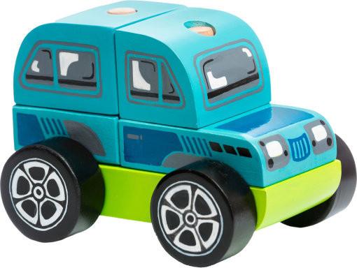 Машинка Позашляховик LM-9. Дерев'яна розвіваюча іграшка Cubika