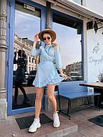 Женское шифоновое платье - голубое