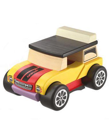 Машинка Міні-Кабріолет LM-3. Дерев'яна яна розвиваюча іграшка Cubika