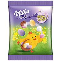 Шоколадные яички Milka mini Eggs в цветной глазури, 100 г.