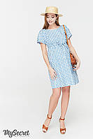 Платье для беременных и кормящих в клеточку
