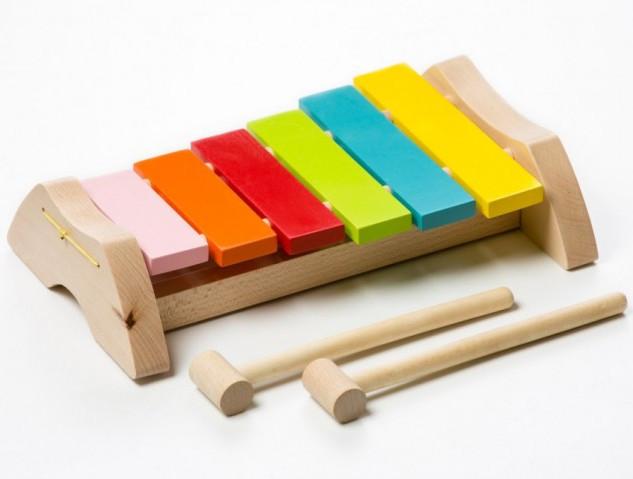 Ксилофон LKS-1. Дерев'яна розвіваюча іграшка Cubika