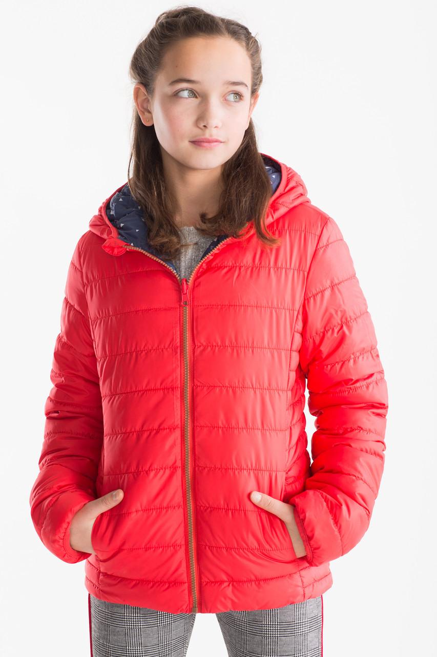 Двухсторонняя демисезонная куртка для девочки C&A Германия Размер 128, 134, 140, 146
