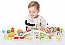 """Конструктор """"Містечко для хлопчиків"""". Дерев'яна розвиваюча іграшка Cubika, фото 2"""
