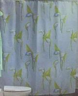 Штора для ванной комнаты  из полиэстера (180Х200 см) декор CALLA с бежевым узором Miranda OST-360
