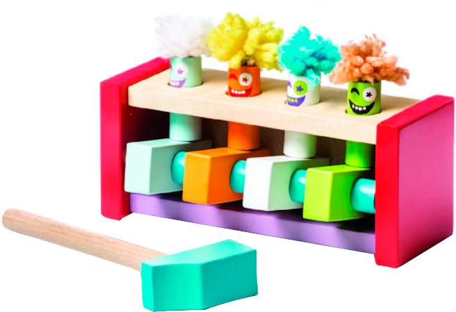 Клоуни-стрибуні. Дерев'яна яна розвиваюча іграшка Cubika